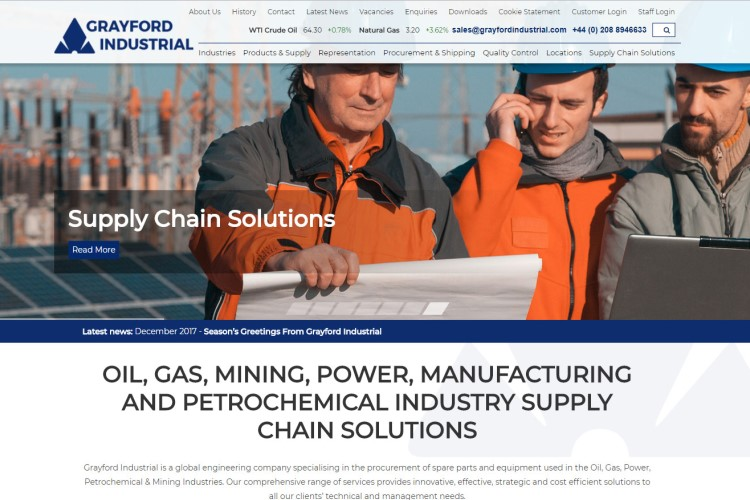 New Website Launched For Grayford Industrial