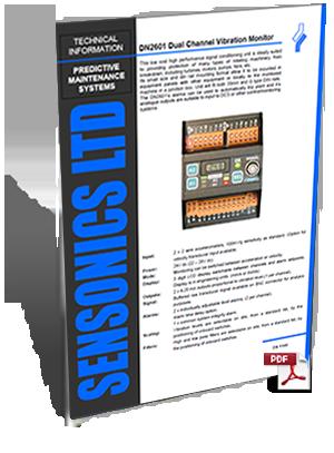 2014 Sensonics DN2601 Vibration Monitor