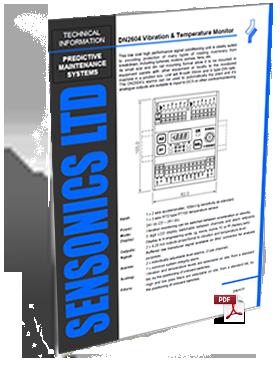Sensonics DN2604 Vibration Temperature Monitor